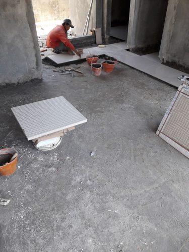 pemasangan granite lantai